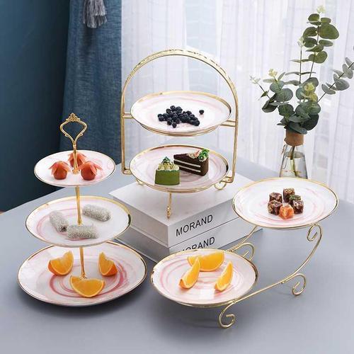 双层蛋糕客厅甜品果盘台糖架托盘水果欧式点心下午下午茶创意多层