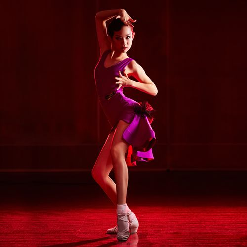 2020年夏季新款女儿童拉丁舞专业舞蹈服比赛裙分体练功服表演服装