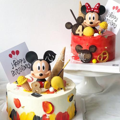 蛋糕模型仿真 2020新款流行卡通迪士尼米奇米妮 生日