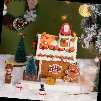 圣诞节姜饼屋饼干翻糖霜礼物盒糖果模具小房子半成品
