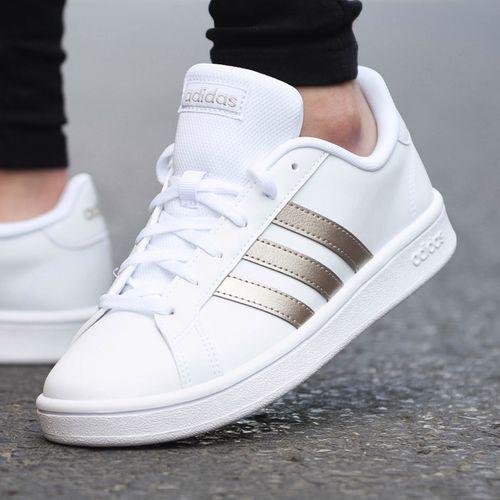 阿迪达斯旗舰女士板鞋2021春季新款运动鞋低帮鞋子休闲鞋ee7874