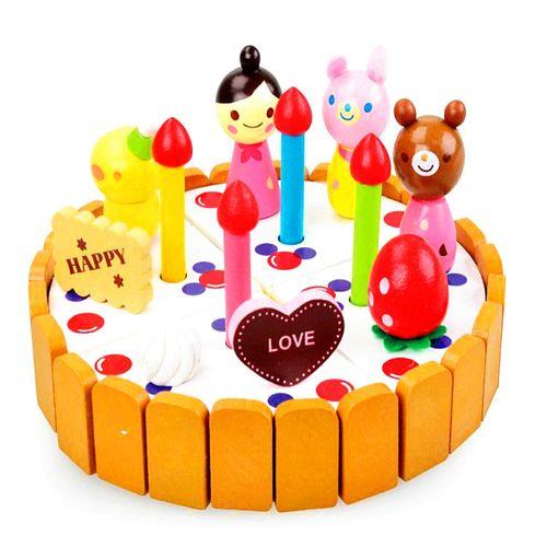 草莓木质卡通雪人小蛋糕 切切看木制仿真过家家儿童die玩具hg-168