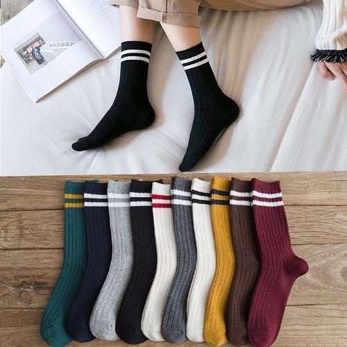 堆堆袜女 春秋秋季丢丢袜女网红潮袜女袜i子女中筒加厚堆堆袜子