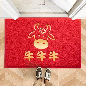 牛年入户门地垫进门垫门口脚垫中式家用定制进户防滑入门耐脏 牛牛牛