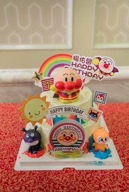烘焙蛋糕装饰摆件面包超人卡通蛋糕摆件儿童生日蛋糕