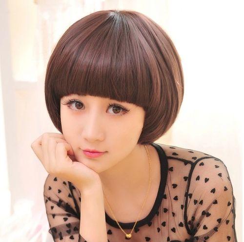 仿真发假头发女生短发短直发bobo头蘑菇头齐刘海深浅