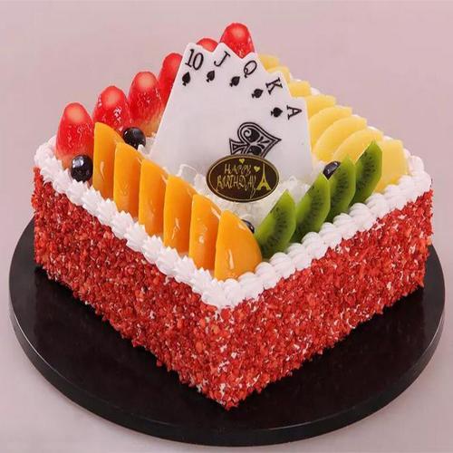仿真水果扑克蛋糕模型样品橱窗摆设