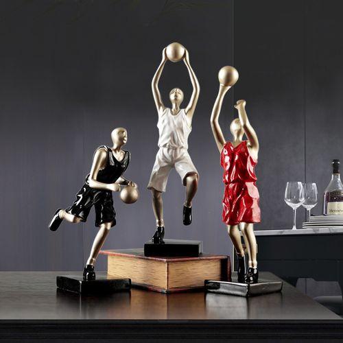篮球运动摆件人物雕塑玄关酒架创意简约现代男孩卧室