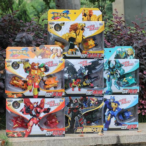 新款玩具暴爆速合体磁吸碰飞车武装精灵机甲战神形机器人金刚爆裂