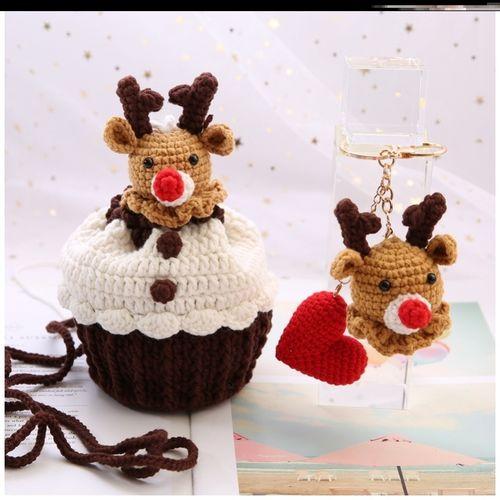 圣诞树蛋糕包系列杯子中粗制作团手工潮流斜跨时尚卡通手织束口装