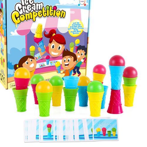 桌面游戏快闪冰淇淋亲子互动儿童早教逻辑思维训练益智桌游玩具