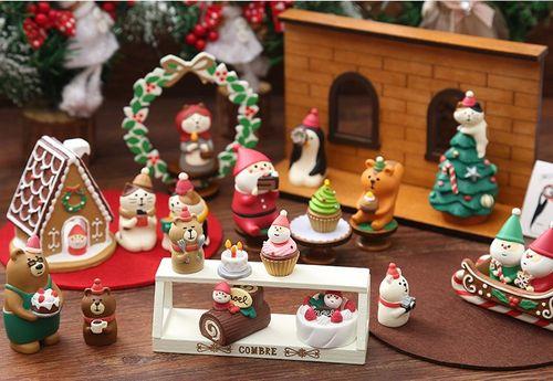 老人礼品装饰品系列摆件家居桌面圣诞蛋糕圣诞节小