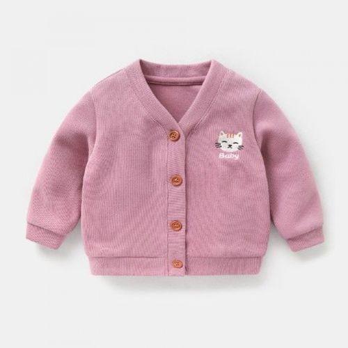 咔咔熊猫婴儿衣服针织开衫外套秋春装春秋男童女宝宝3