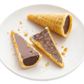 夹心巧克力蛋卷脆筒夹心爆浆脆皮饼干淇淋小孩儿童零食休闲 黑