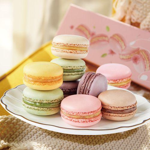 法式马卡龙6枚甜点心甜品小蛋糕点摆盘装饰下午茶零食