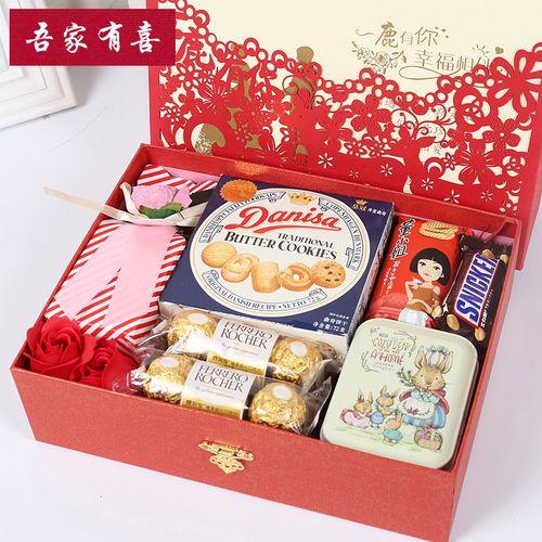 特大号 定制欧式结婚伴手礼创意礼包 喜糖礼盒成品 含