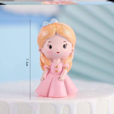 2021网红蛋糕装饰人鱼模型头像订制女孩求婚装扮动物