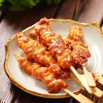 (京东生鲜)骨肉相连烧烤串新鲜冷冻半成品油炸小吃里脊肉炸串食材
