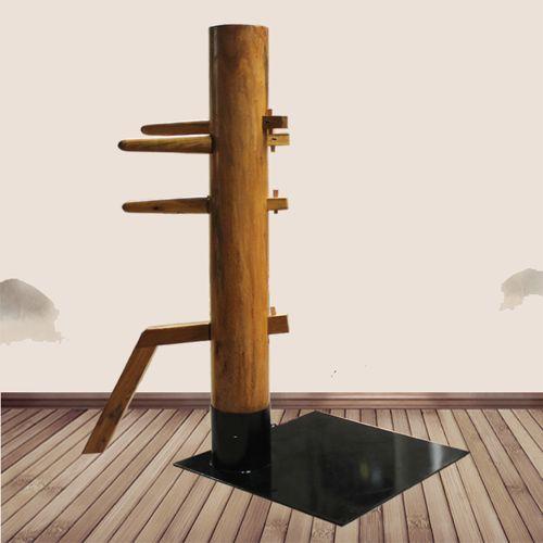 方形铁板落地式木人桩免安装咏春拳木人桩 适合任意