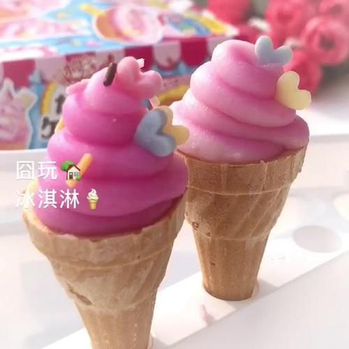 日本食玩冰淇淋可食食玩嘉娜宝kracie手工自制糖果