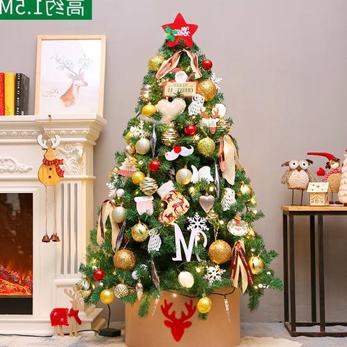 圣诞树件圣诞节套餐圣诞树饰品家用装饰豪华摆圣诞节1.8米1.5发°