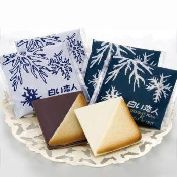 【白色恋人54枚】黑白巧克力夹心饼干铁盒装日本北海道进口零食