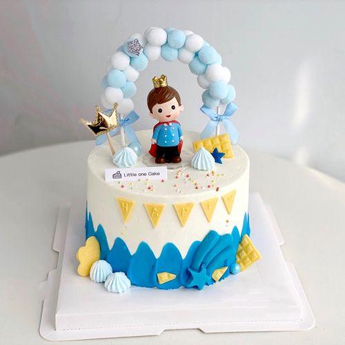 烘焙蛋糕装饰皇冠小王子公主城堡男孩女孩六一儿童节