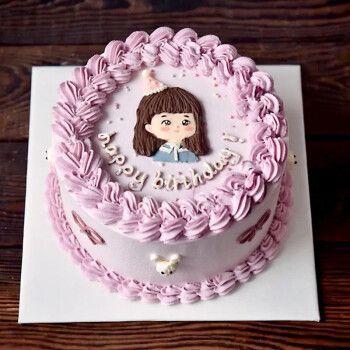 节送老婆女友网红生日蛋糕支持定制全国预定同城配送 可爱女孩 8