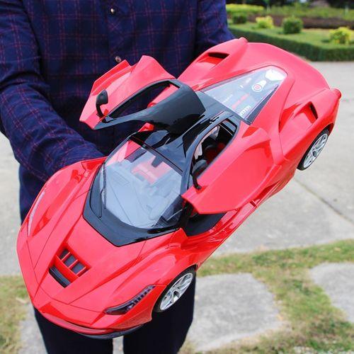 遥控遥控跑车赛车摇控汽车充电车.儿童模型红色车玩具