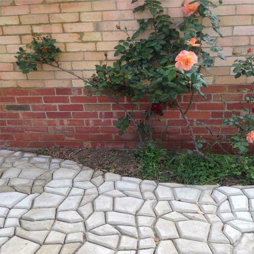 植防滑广场铺路印速干磨具景区雕家用砖浮雕水泥花园草.模型地坪