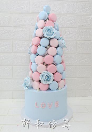 新款马卡龙蛋糕模型唯美婚庆开业甜品台仿真翻糖蛋糕