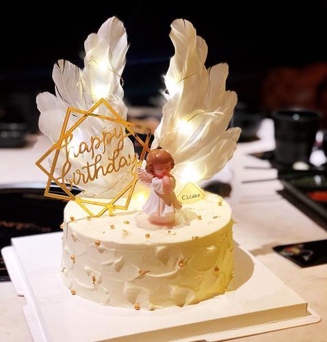 lcake网红蛋糕天使宝贝创意蛋糕宝贝ins网红蛋糕