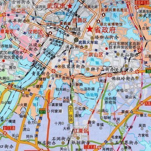 武汉city城市地图:武汉市交通旅游图+武汉城区图+轨道