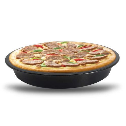 圆形浅披萨盘 6寸不粘pizza烤盘派盘 家用比萨盘 烧烤