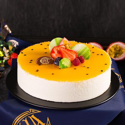 椰子百香果慕斯蛋糕