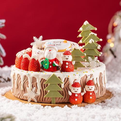 圣诞树桩蛋糕(武穴)