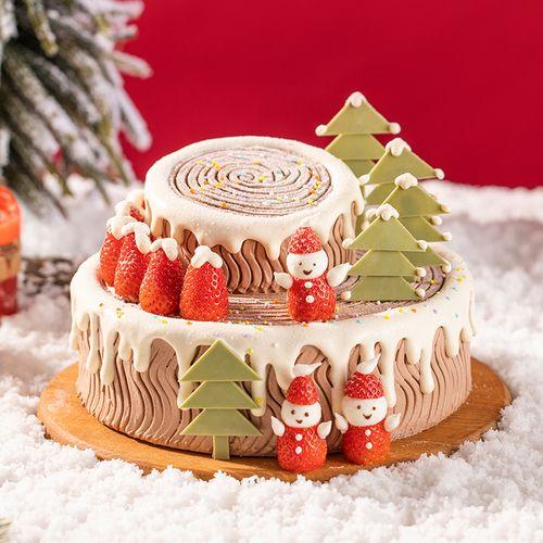 【幸福特惠仅需168元】圣诞树桩蛋糕(常规版)-2磅