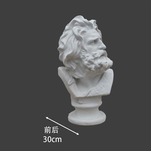 马赛石膏像美术教具模型头像石d膏像摆件素描雕塑人物马赛曲