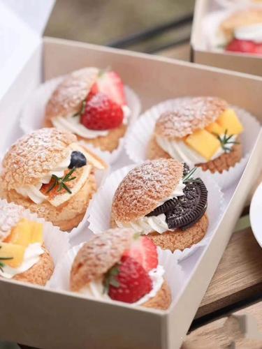 【甜品】水果泡芙