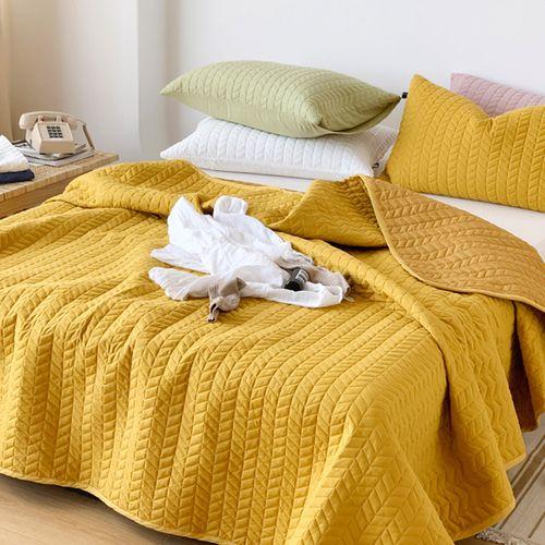悠云鸟同款棉绗缝床盖三件套式加厚夹棉床单单双人床水洗北欧简约 zxs