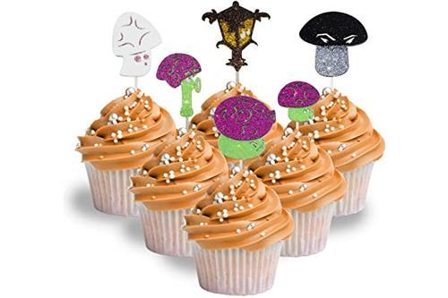 *英雄动画系列角色纸杯蛋糕装饰闪光泡沫,每包 12 个