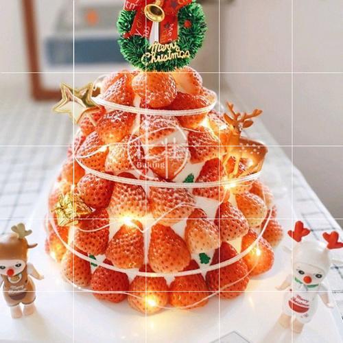 生日蛋糕麋鹿儿童礼物节日圣诞蛋糕装饰摆件插件烘焙