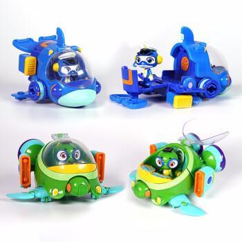 正版庄臣海豚帮帮号玩具帮帮超能侠五合体套装可变形