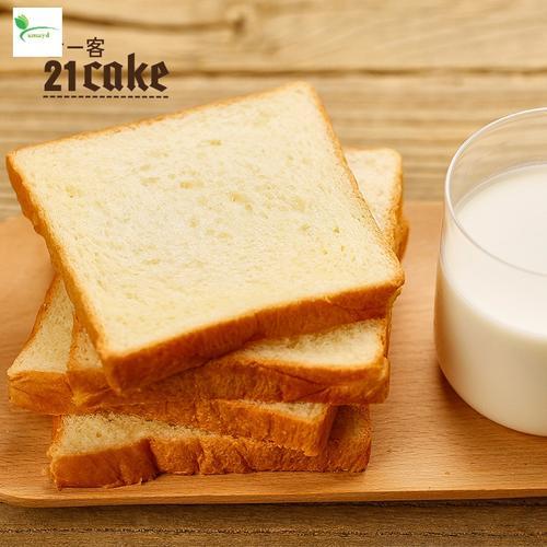21cake北海道吐司家庭早餐面包手撕面包零食2条装约880g 北海道吐司2