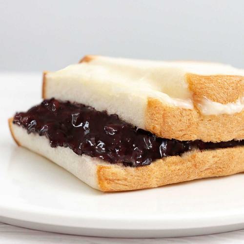 新吉力3+2紫米面包奶酪软糯米夹心吐司三明治紫薯蛋糕