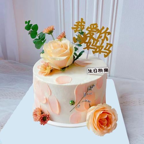 网红花卉花仙子生日蛋糕模型仿真2021新款创意塑胶生日假蛋糕样品