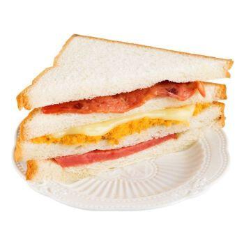 三明治夹心面包 【新鲜】三明治肉松培根整箱早餐食品