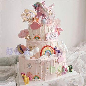 小马宝莉生日蛋糕卡通儿童女孩同城全国上海广州深圳杭州重庆西安