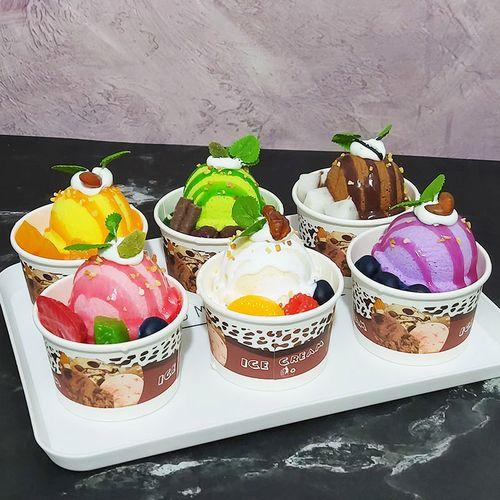 冰淇淋模型甜筒冰激凌蛋糕假哈根达斯球雪糕水果圣代