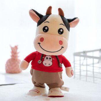 快乐音符儿童仿真毛绒小牛布娃娃公仔会唱歌跳舞学说话玩偶走路小毛驴